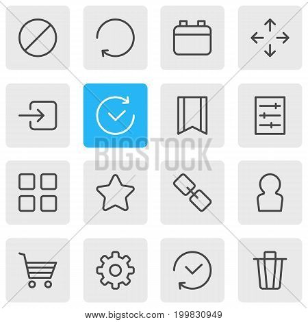 Editable Pack Of Url, Time, Cube And Other Elements.  Vector Illustration Of 16 Application Icons.