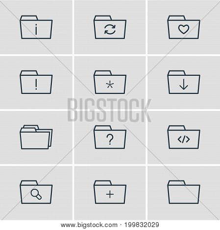Editable Pack Of Magnifier, Liked, Significant And Other Elements.  Vector Illustration Of 12 Document Icons.