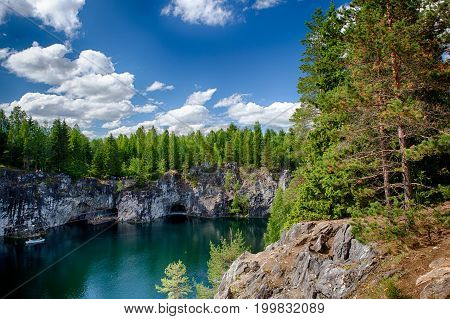 Marble Canyon In The Ruskeala Mountain Park Karelia, Russia