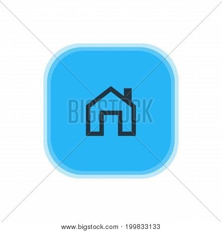 Beautiful User Element Also Can Be Used As Mainpage Element.  Vector Illustration Of Homepage Icon.