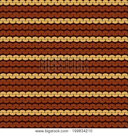 Seamless knitted background. Knitted realistic seamless pattern of white and pink color. Reverse side.