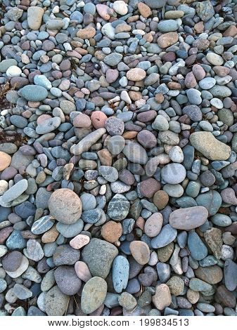 Colorful Rocks On The Beach