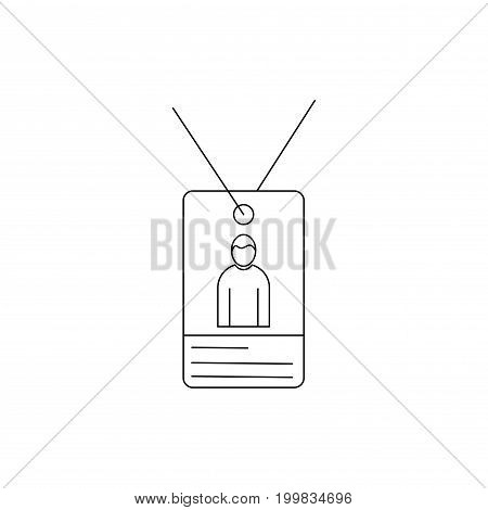 person id card identity linear vector icon