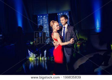 The Bride And Groom Couple Dancing Tango