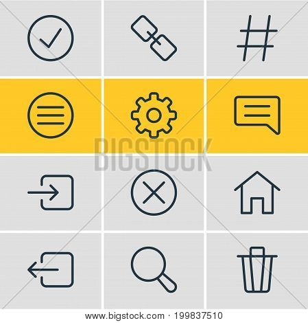 Editable Pack Of List, House, Topic And Other Elements.  Vector Illustration Of 12 App Icons.