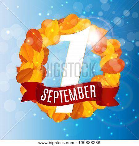 First 1 September Template Vector Illustration EPS10