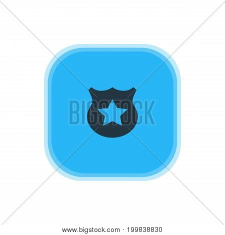 Beautiful Location Element Also Can Be Used As Cop  Element.  Vector Illustration Of Police Icon.