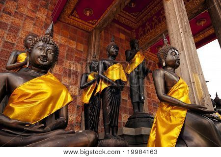 Buddha In Various Poses.
