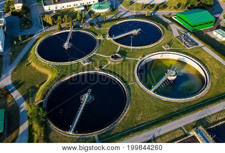 Modern Industrial Sewage Treatment Plant