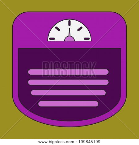 Icon in flat design Sports scales equipment