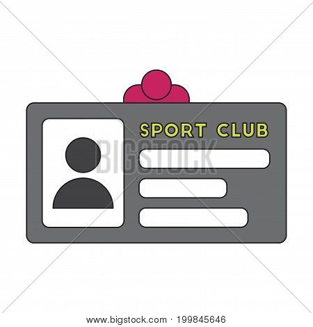 Icon in flat design Personal card sports club