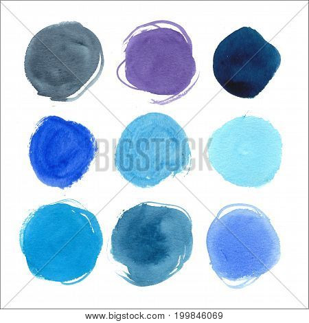 Beautiful hand drawn abstract watercolor stain background. Artwork painting.