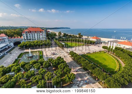 SopotPoland-September 72016:View of the Sopot City in Poland