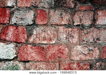 Stone wall near position red and other color