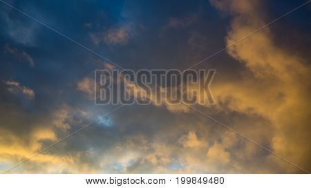 nice abstract sky on evening time