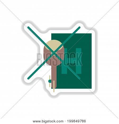 paper sticker on white background Helipad transportation