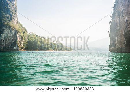 Cheow Lan lake Khao Sok National Park, Thailand.