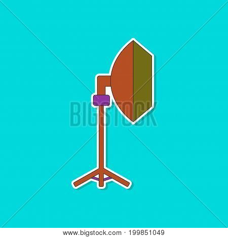 paper sticker on stylish background of professional lighting