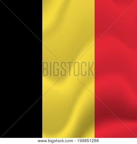 Belgium waving flag. Waving flag. Vector illustration.