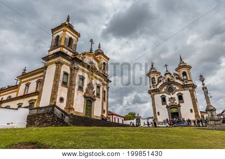 Mariana, Brazil, November 06, 2016: Mariana In The State Of Minas Gerais Is One Of Brazil's Best Pre