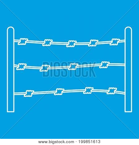 Restricted area icon blue outline style isolated vector illustration. Thin line sign