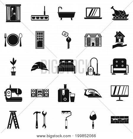 Sanitary engineering icons set. Simple set of 25 sanitary engineering vector icons for web isolated on white background