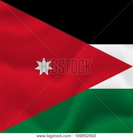Jordan waving flag. Waving flag. Vector illustration.
