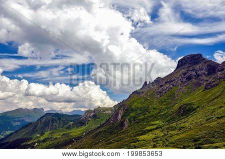 Dolomites Unesco world heritage in Italy dramatic photo