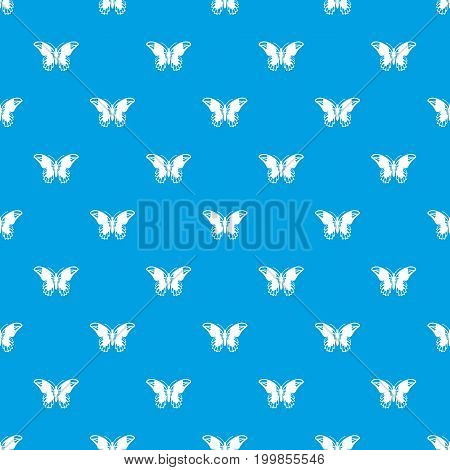 Admiral butterfly pattern repeat seamless in blue color for any design. Vector geometric illustration