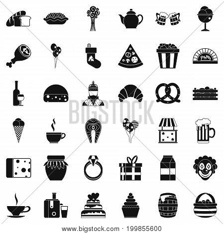 Bounty icons set. Simple style of 36 bounty vector icons for web isolated on white background