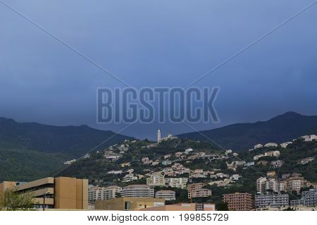 View on Cardo city from Bastia Corsica France