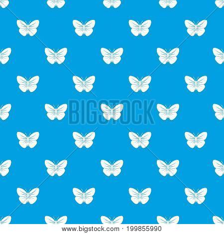 Black butterfly pattern repeat seamless in blue color for any design. Vector geometric illustration