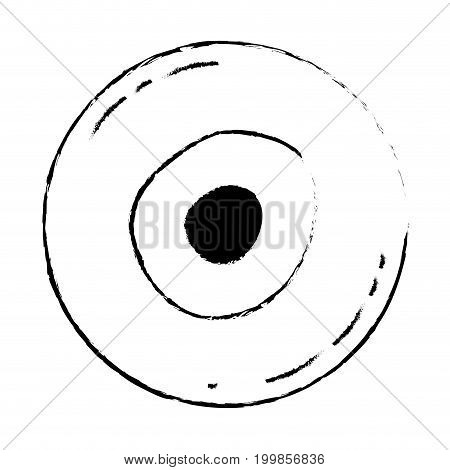 white background with monochrome blurred silhouette of front view ovum vector illustration