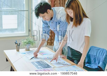 Teamwork helps us select the best information. To bring to customers to use in successful work. Quality work concept vintage effect.