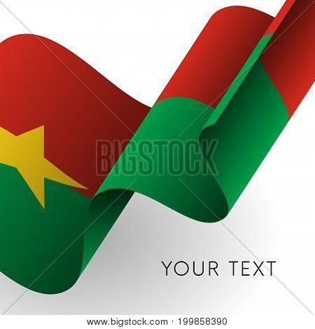 Burkina Faso flag. Patriotic design. Vector illustration.