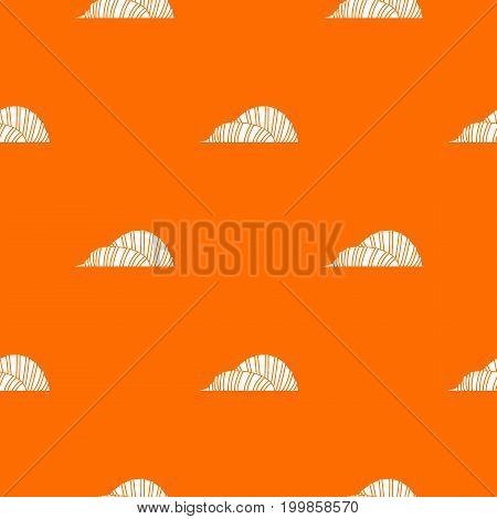 Cloud Forest and Flower Dome at Gardens by the Bay pattern repeat seamless in orange color for any design. Vector geometric illustration