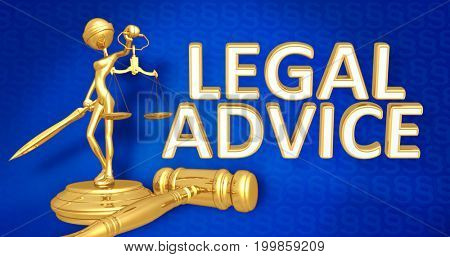Legal Advice Law Concept Lady Justice The Original 3D Character Illustration