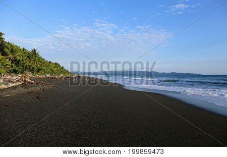 Black Sand Beach - Volcanic Sand Beach in Centralamerica