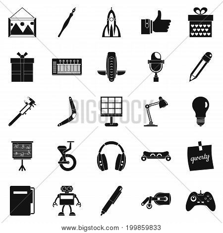 Boon icons set. Simple set of 25 boon vector icons for web isolated on white background