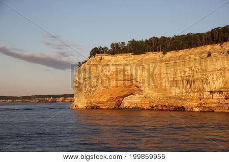 Indian Head rock formations,Pictured Rocks National Lakeshore, Upper Peninsula of Michigan
