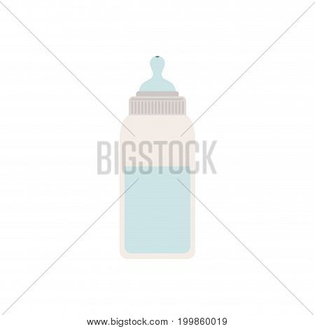 color silhouette of bottle baby with pacifier vector illustration