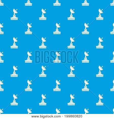 Satellite dish pattern repeat seamless in blue color for any design. Vector geometric illustration