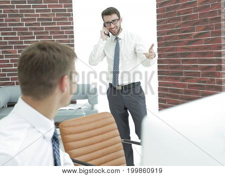 businessman communicating on the mobile