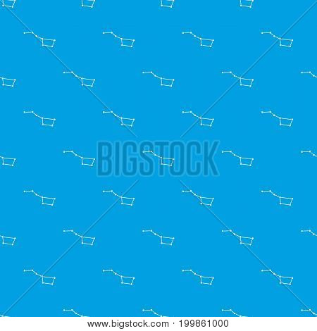 The Great Bear constellation pattern repeat seamless in blue color for any design. Vector geometric illustration