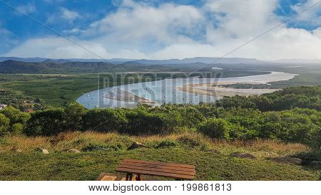 Cape Tribulation Cooktown view of Endeavour riverfrom Grassey Hill