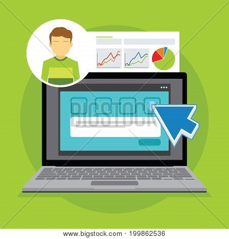 online survey review and rating vector illustration