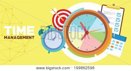 time management and schedule vector illustration design