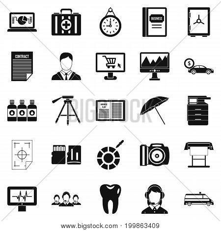 Branch office icons set. Simple set of 25 branch office vector icons for web isolated on white background