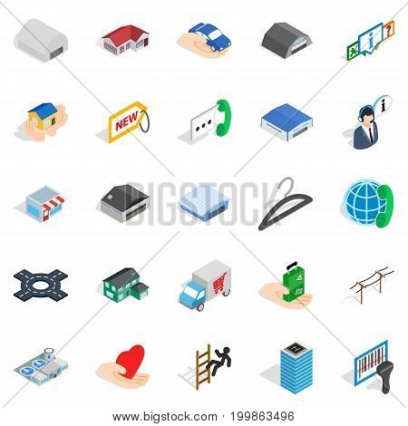 Ante icons set. Isometric set of 25 ante vector icons for web isolated on white background