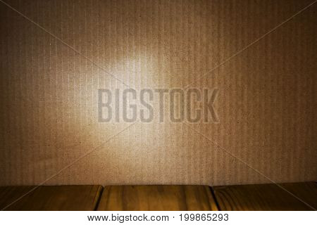 Close up of brown textured packaging cardboard